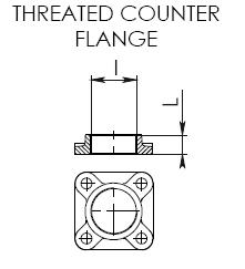 CEM Threaded AM Counter flange