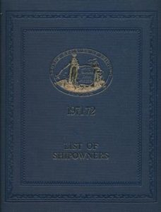 Lloyds register of Shipping - First edition