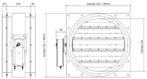 Circular MED approved A60 Damper