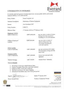 Ocean Footprint Insurance summary 2019-20