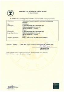 RINA Drain Certification