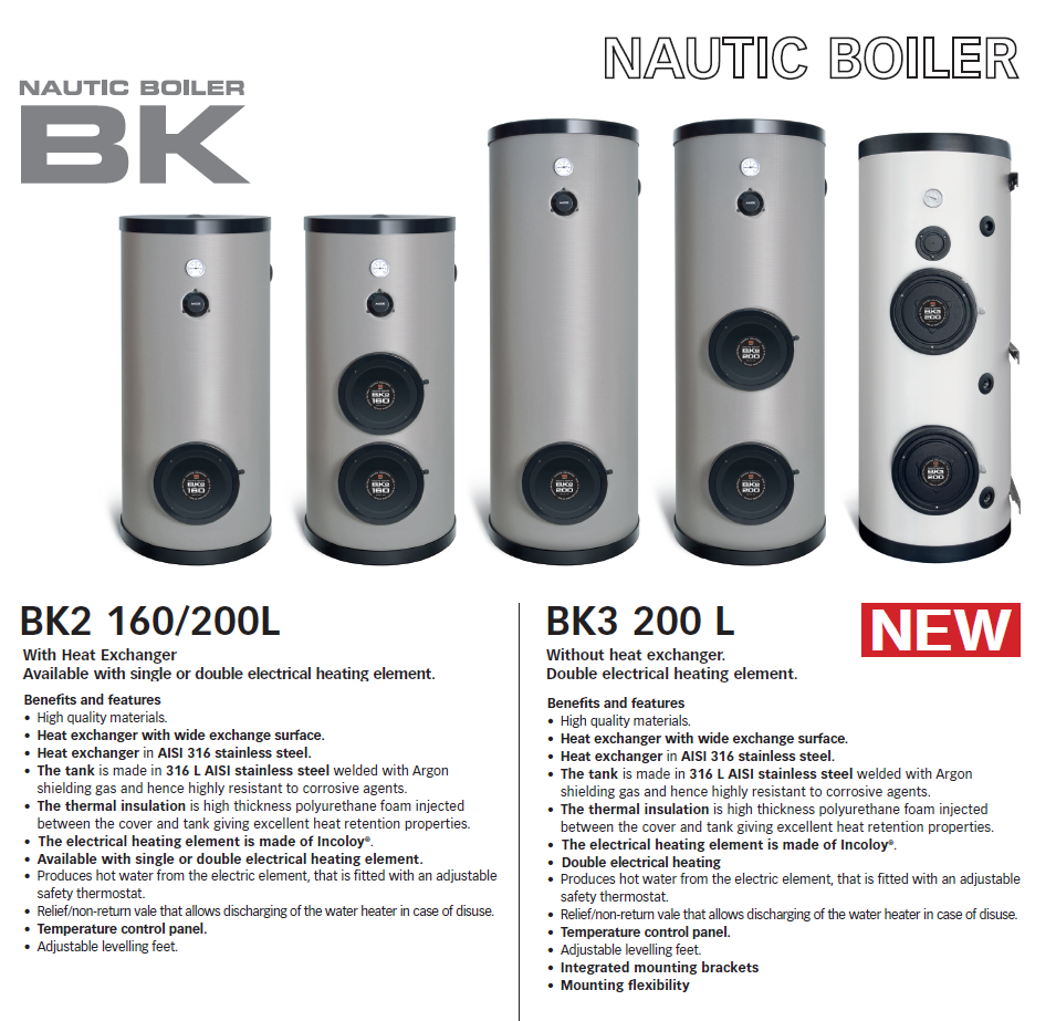 Quick - Nautic Boiler BK2 & BK3